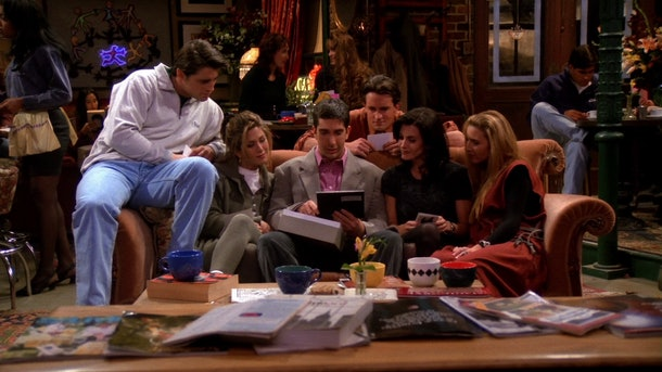 the cast of 'Friends' in Central Perk
