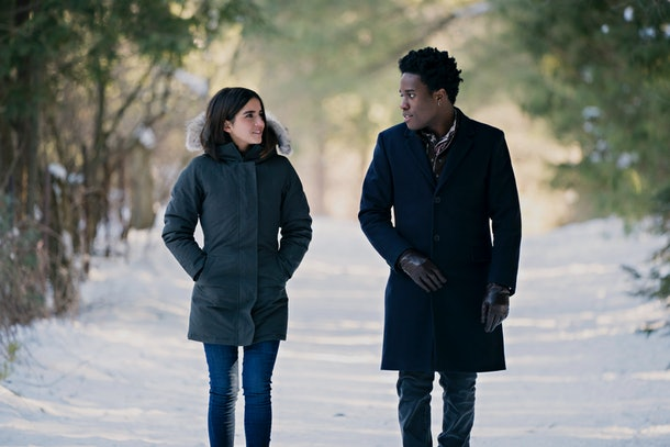 Shameik Moore and Odeya Rush in Netflix's 'Let It Snow'