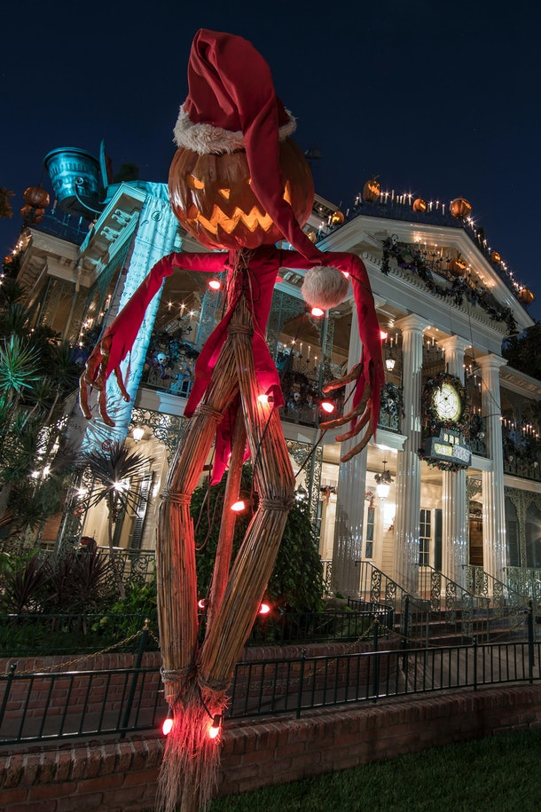 The Haunted Mansion has a holiday makeover at Disneyland just in time for the season.