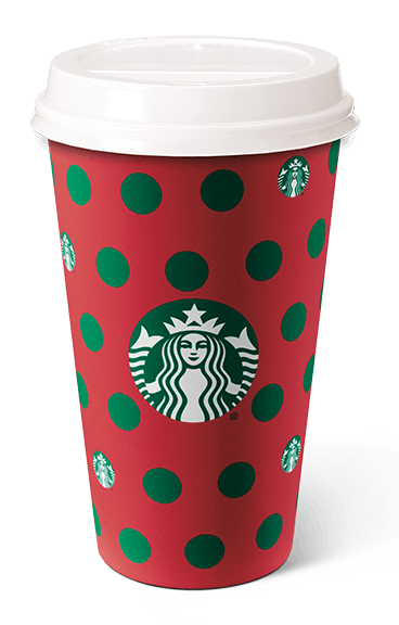 The Starbucks' Holiday 2019 Cup Designs include a cute holiday Polka Dot design.