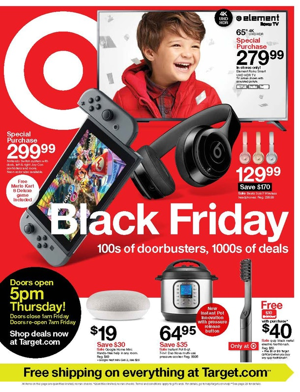 Target's Black Friday 2019 Preview Sale will start on Friday, Nov. 8 and last for two days.