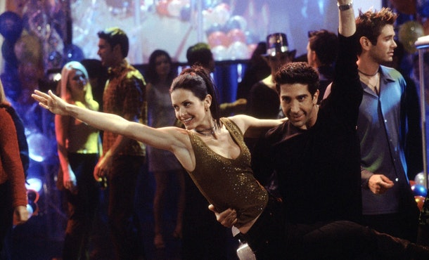 Ross and Monica performed their infamous dance routine to try to get televised on a New Year's Eve show.