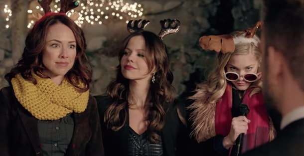 Three girls unite to get revenge on their mutual ex in 'Girlfriends of Christmas Past', available on Hulu in 2019