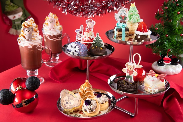 An assortment of Disney holiday treats and Duffy bear desserts are available at Shanghai Disneyland Resort.