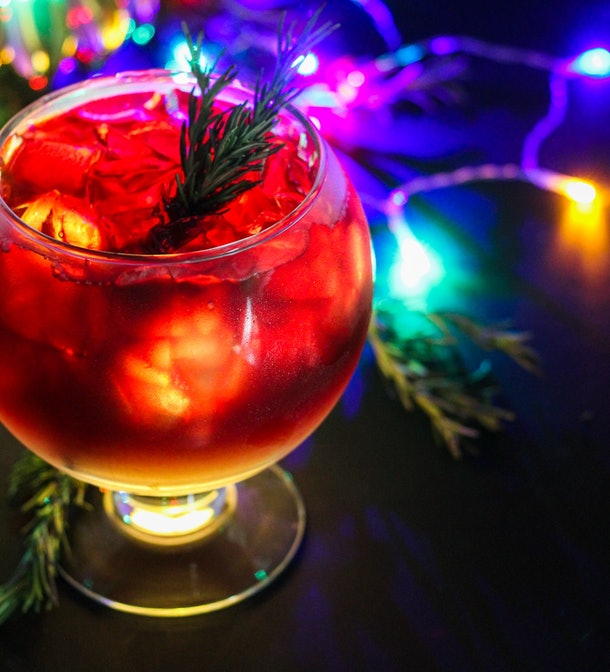 """The Glow Mega Sangria with lights is part of the """"Let It Glow""""-inspired cocktails offered at Disneyland."""