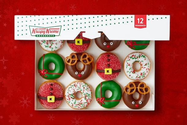 Krispy Kreme's holiday 2019 doughnuts look like the most classic Christmas treats.