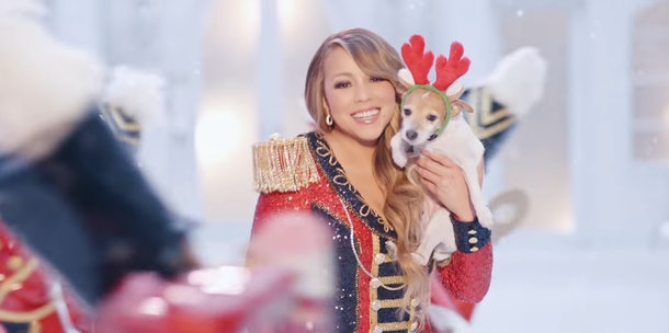 "You can see Mariah Carey's kids in her new ""All I Want For Christmas Is You"" Video."