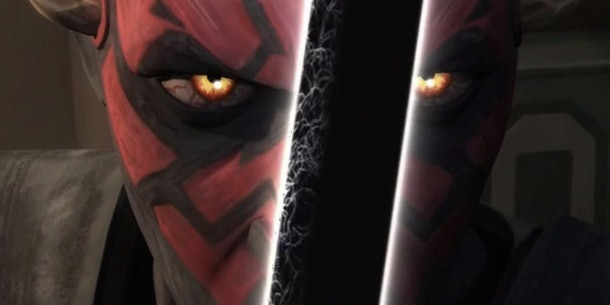 Darth Maul with the Darksaber in Star Wars: Rebels