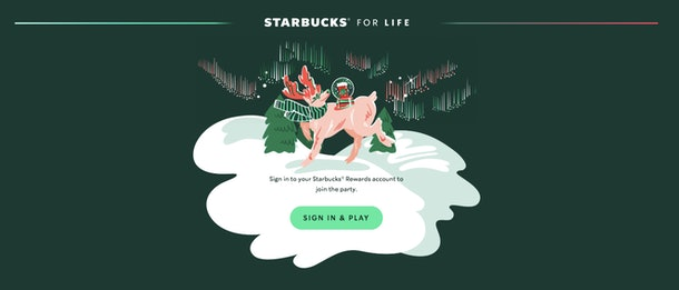 The Starbucks for Life promotion is available through the app.