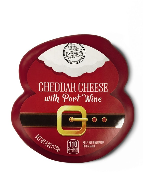 December 2019 Aldi Finds feature alcohol- infused cheeses.