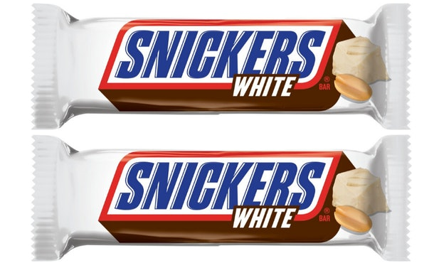 White Chocolate Snickers Bars will be a permanent addition.