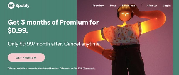Spotify Premium 0 99 Cent