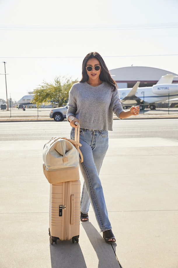Shay Mitchell S Beis Rolling Luggage Is Almost Too Chic To