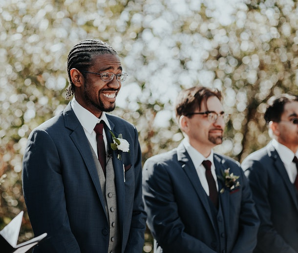 12 Photos Of Partners Watching Brides Walk Down The Aisle