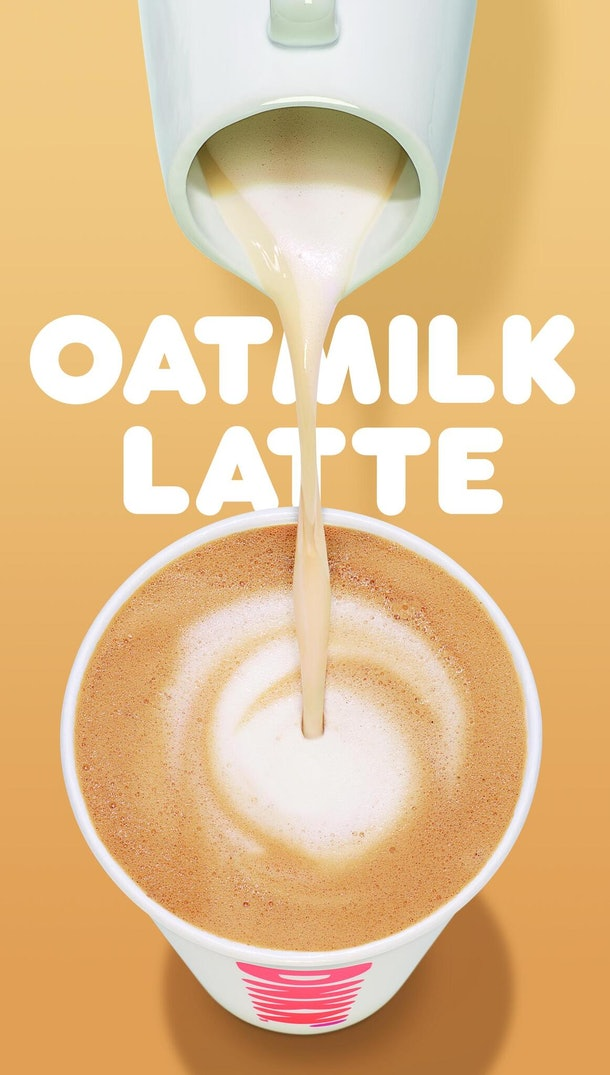 Dunkin' Is Adding Oat Milk To Their Menu, but you'll have to wait until spring 2020 to try it out.