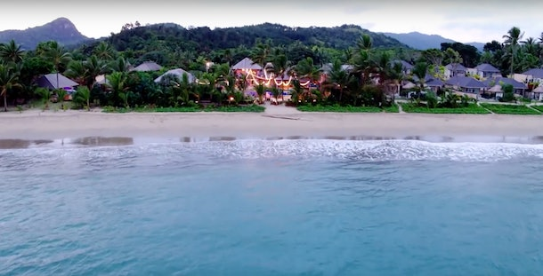 The villa from 'Love Island' USA is located on a beautiful beach in Fiji, and surrounded by the jungle.