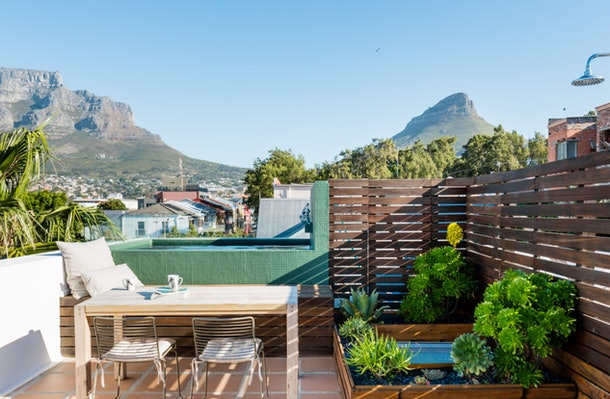 A penthouse in the heart of Cape Town, South Africa has an epic rooftop with a small plunge pool.
