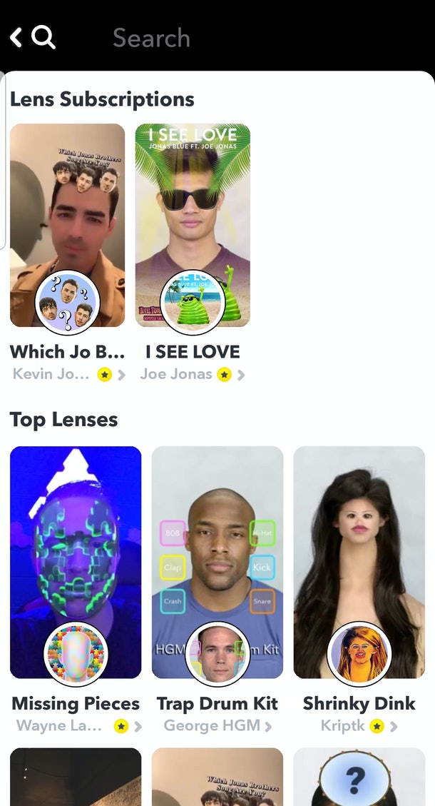 Does Snapchat Have AR Predictor Filters like Instagram does? They have a lot of the same sort of pop culture and character filters.