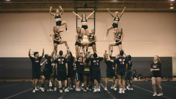 An example of a pyramid on 'Cheer'
