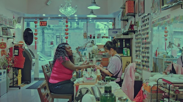 two women at a nail salon in See You Next Time