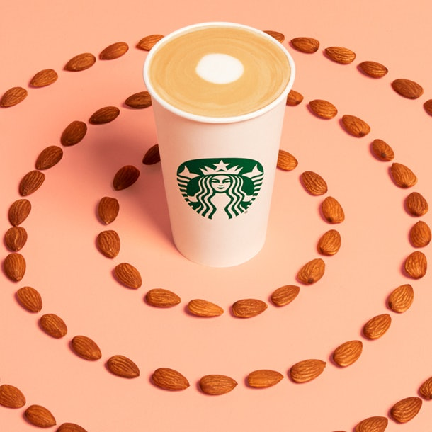 Starbucks' new non-dairy options include the Coconutmilk Latte and Almondmilk Honey Flat White
