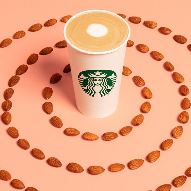 Starbucks' New Non-Dairy Beverages Include The Oatmilk Honey Flat White and Almondmilk Latte
