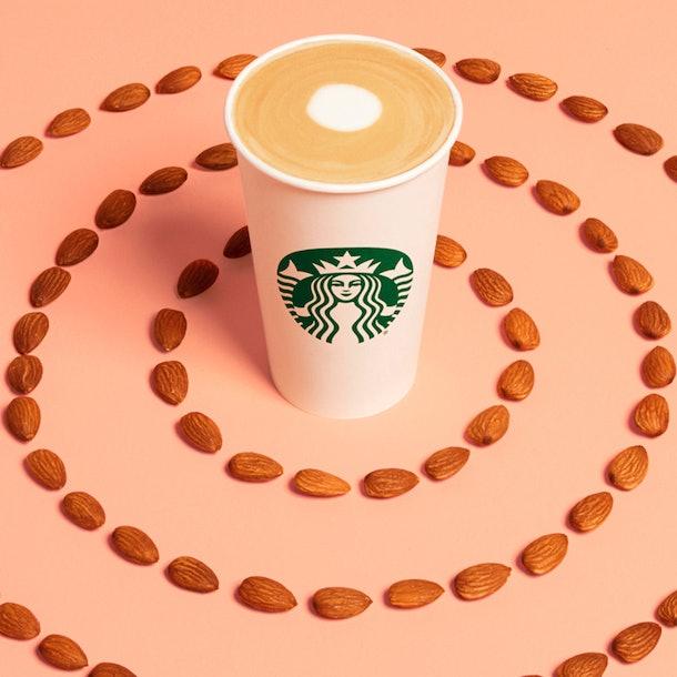 The Starbucks' Coconutmilk Latte will be joined by the Oatmilk Honey Latte and the Almondmilk Honey Flat White.