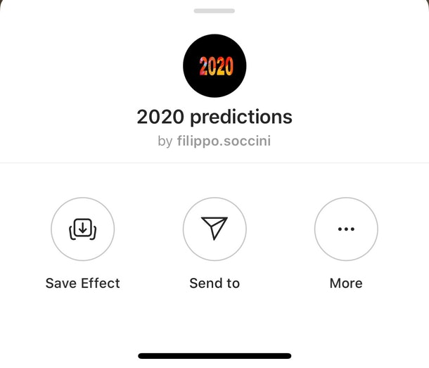 Instagram's 2020 Prediction filter will show you the future.