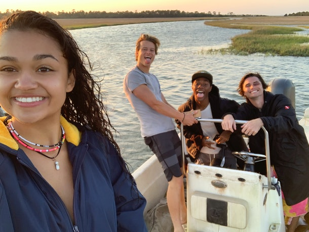 Madison Bailey and her 'Outer Banks' costars