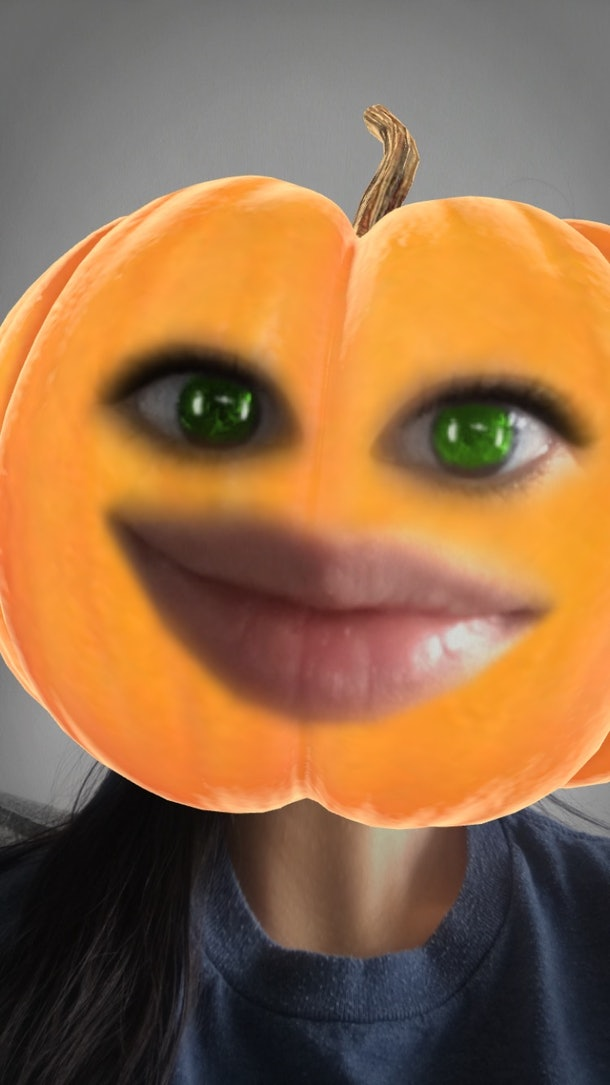You can transform yourself into a pumpkin and other Halloween characters on Snapchat.