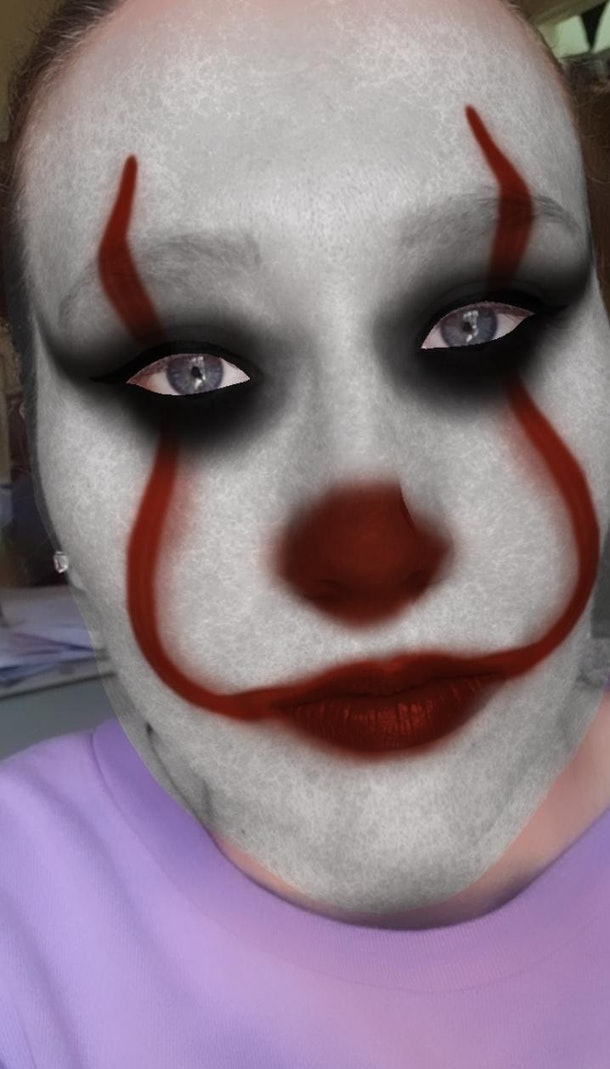 Instagram's Halloween filters include a Pennywise-inspired look.