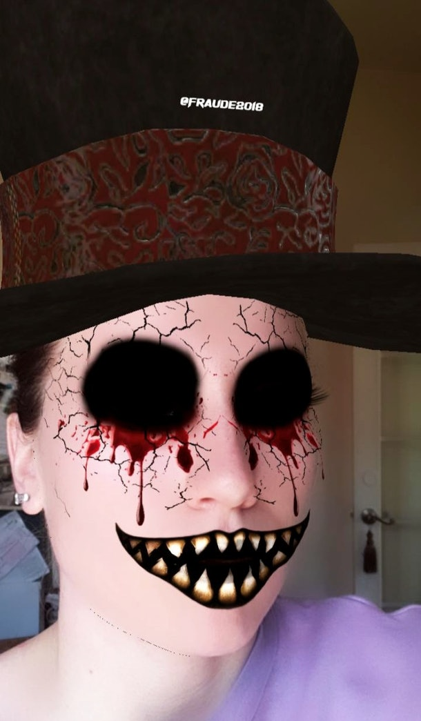 Instagram's Halloween filters include a scary top hat filter.