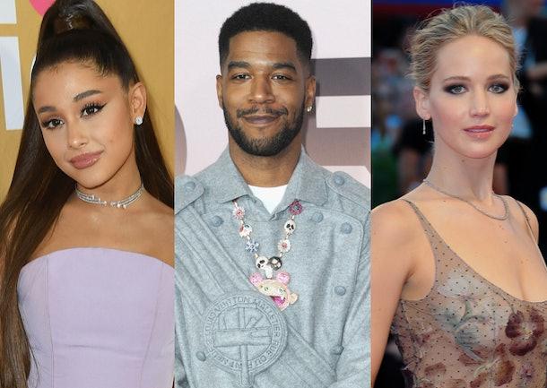 Ariana Grande, Kid Cudi, Jennifer Lawrence