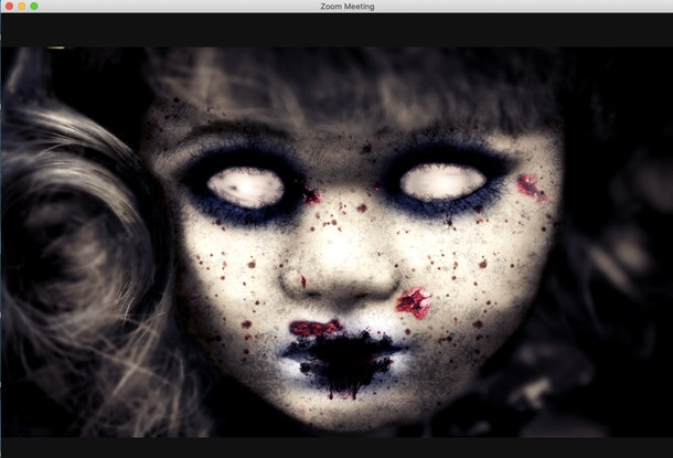 These 16 Scary Zoom Backgrounds Include Creepy Clowns Zombies