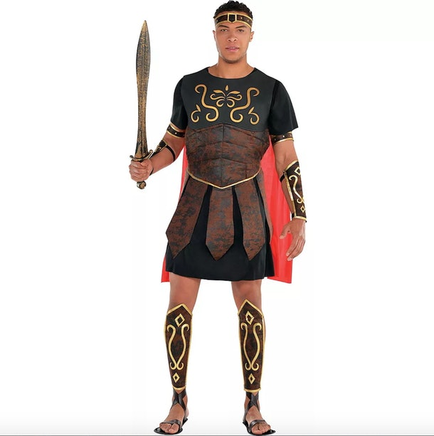 Dale Moss wore a Roman centurion costume for Party City.