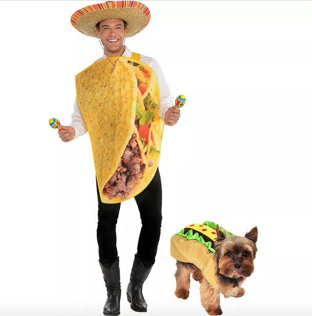 Dale Moss wore a taco costume for Party City.