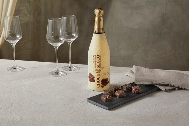 Aldi's November finds include a chocolate sparkling wine.