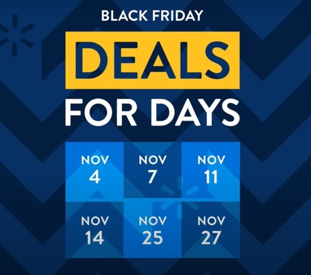 Walmart is bringing back Black Friday deals all November long.