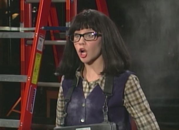 "Penelope Taynt, played by Amanda Bynes,  looking shocked on ""The Amanda Show."""