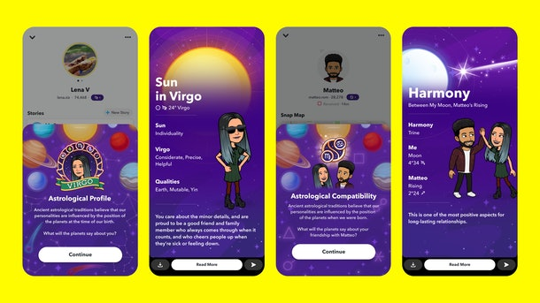 Here's where to find Snapchat's astrology charts to connect with your friends.