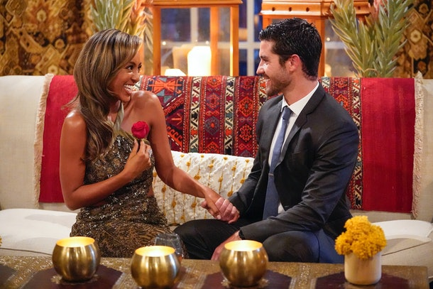 """Taysia Adams and Spencer in a scene from Season 16 of """"The Bachelorette."""""""