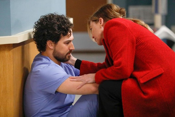 DeLuca and Meredith on 'Grey's Anatomy'