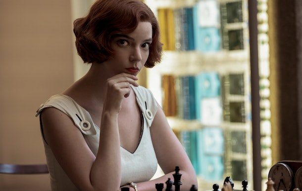 Beth Harmon (Anya Taylor-Joy) plays a game of chess in 'The Queen's Gambit.'
