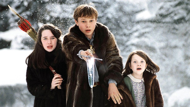 "Anna Popplewell, William Moseley, and Georgie Henley play siblings in ""The Chronicles of Narnia: The Lion, the Witch, and the Wardrobe."""