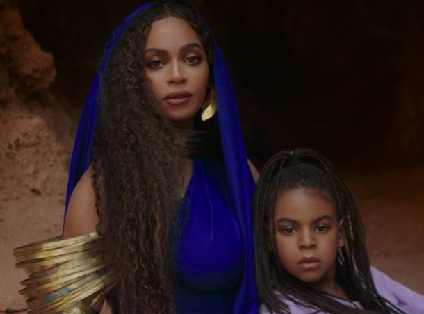 "Beyoncé and Blue Ivy Carter appear together in ""Black Is King."""