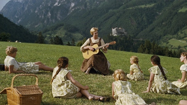 "Julie Andrews leads ""The Sound of Music's"" ensemble cast."