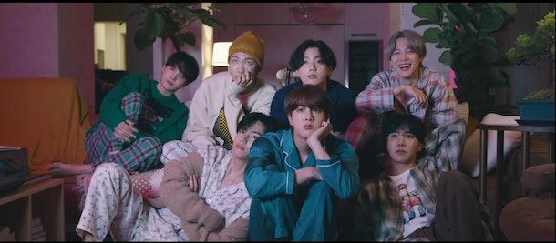 "A screenshot from BTS' ""ON"" music video."