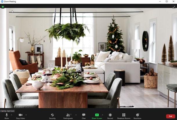 These holiday backgrounds for Zoom include West Elm and Havenly designs.
