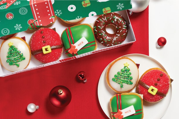 Krispy Kreme's new holiday doughnuts will be available starting on Nov. 27.