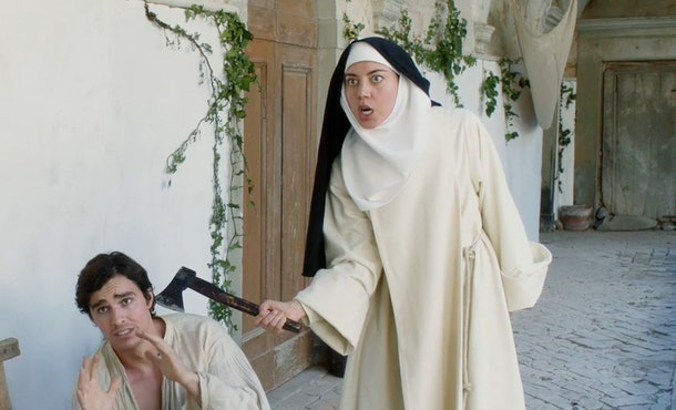 Aubrey Plaza plays a nun in 'The Little Hours.'